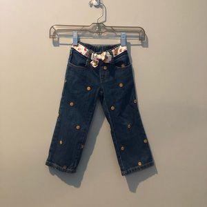 Gymboree Girls Sunflower Jeans with Belt